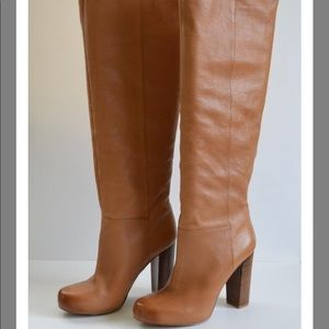 Nine West Leather OTK Brown Leather Boots 9